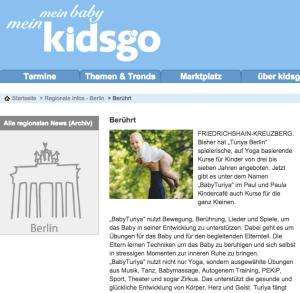 BabyTuriya Artikel in Kidsgo