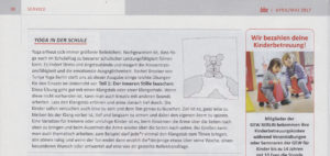 Turiya Yoga in Schulen in der Berliner Bildungszeitung
