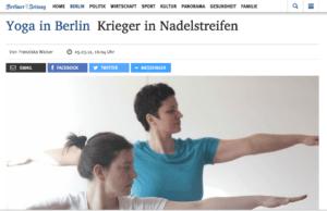 Firmenyoga in der Berliner Zeitung