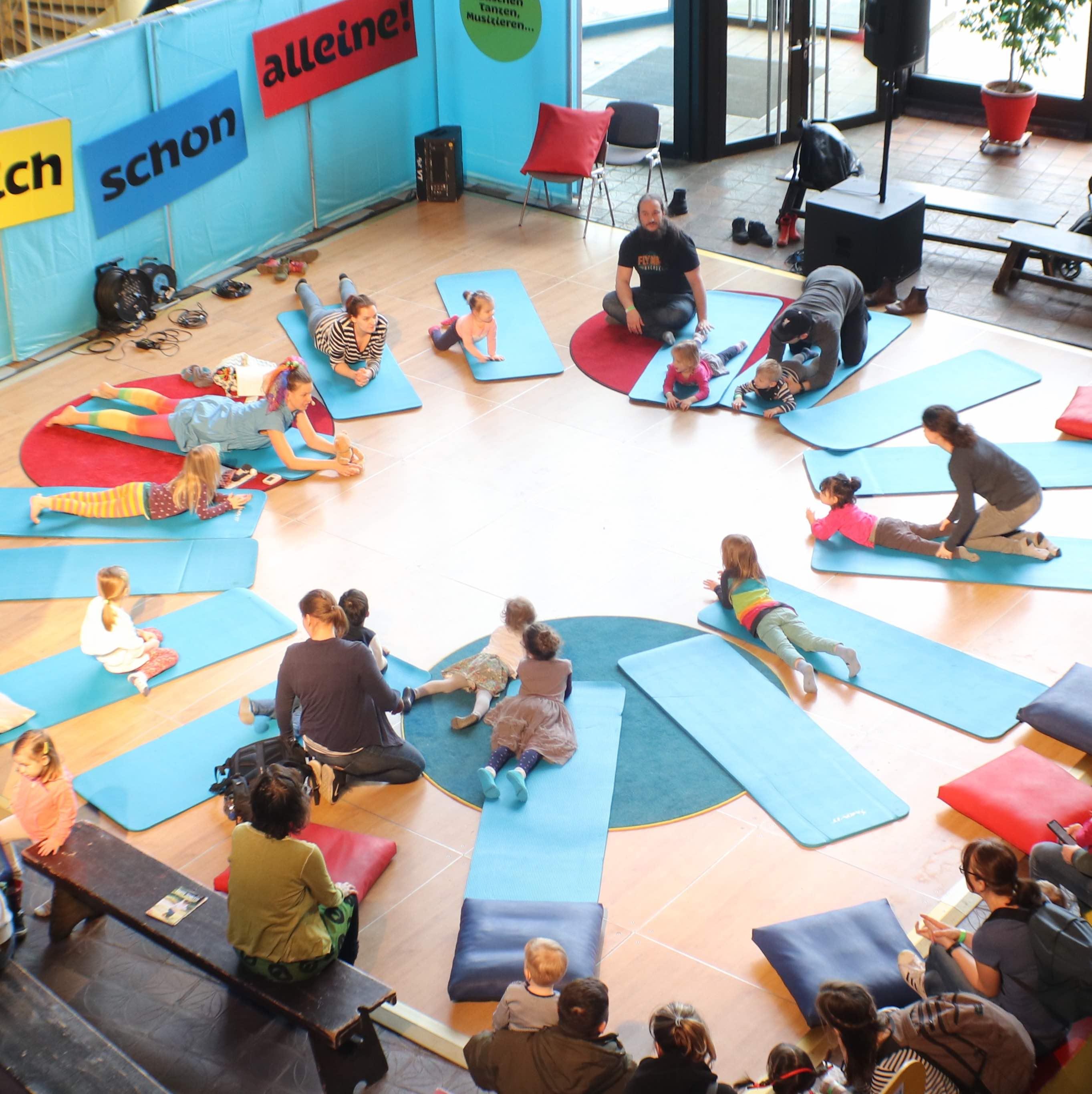 Achtsamkeitsübungen bei ein Firmenevent in Berlin
